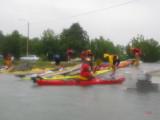 På grund av vädret valde vi att paddla direkt till startplatsen.