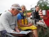 Kjelle, Kerstin och Magnus före start