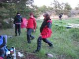 Anna och Ewa stretchar vidare