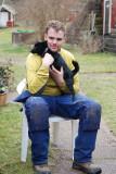 Thomas med sin vovve