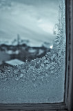 monochrome - icy window