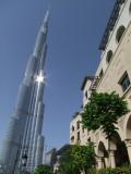 Sun on Burj Dubai December 2009