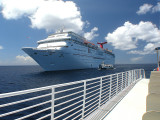 Riding the Tender to Half Moon Cay