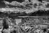 Thun and mountains (IR)