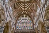 Window and ceiling, Exeter Cathedral