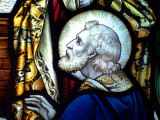 Detail of a stained glass window, Almer