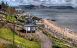 Gardens and beach, Lyme Regis (2657)