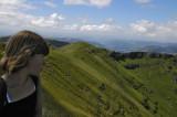 Nora au sommet du plomb du Cantal