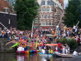 Canal Parade in Amsterdam during Gay Pride, August 2, 2008