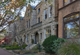 Old stone row on Lincoln Park