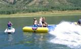 splashing the raft
