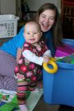Having fun with Aunty Heidi