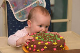 attacking the cake