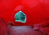 SNow Tunnel Entance On Early 70's Tent