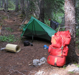Camp After Day One  Near Milham Pass ON Entiat Side Of Drainage