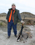 Dad With His Buck ( He Shot Off Antler Which Was 3 Point On Missing Side)