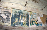 World War II Era    Ads And Comics In Old Abandoned Farm House.