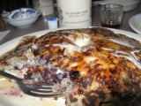 Wild Huckleberry pancakes In Wallace Idaho... Taste Great!!!