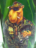 Joe  Camel Camo Hunting Thermos For Road Trip Coffee