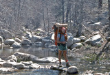 Don  ( Who Did The AT In 1976 ) Crossing Holcomb Creek On Southern PCT