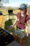 Volunteer Hiker  Flipping Burgers