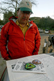 Eric Ryback With Some Of HIs  Original  Maps From His 1970 PCT Thru-hike