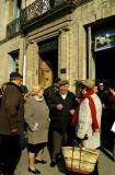 Voters gather in Pezenas