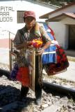 Trackside vendor at Creel