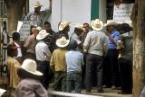Protestors blockade the town hall at Batopilas