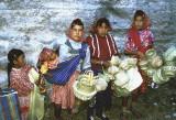 Tarahumara vendors in a railway cutting