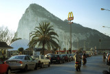 La Linea, Spain, approaching the Gibraltar border.