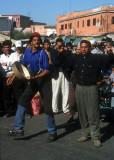 Street musicians in the Djemaa El Fna