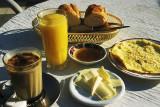 Frrench breakfast in a back-street hotel
