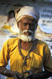 Wandering sadhu near the Ganges