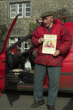 Oldest milkman in the Dales, England