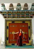 Tibetan monk (with mobile phone), Mindrolling Monastery, Dehra Dun