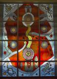 Leadlight windown, Araluen Arts Centre