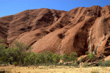 As the day warms... the flanks of Uluru