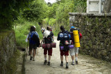 Pilgrims passing through Furelos