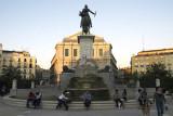 Plaza de Oriente at dusk