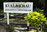 Station sign at Kuala Krau