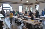 The former waiting room of Marion Union Station. Over 400 models were on display during the event.