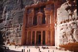 The Treasury, classic Nabataean construction.  This is Edomite territory.