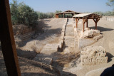 Down in the valley beside the Jordan River is a long dried river channel where it is said people were baptized.