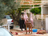 The next morning in Amman, was Friday of the Eid holiday when many celebrate by killing and a eating goat or a sheep.