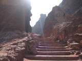 The following from Petra, are my second trip back to Petra where I climbed to the High Point of Sacrifice -- up these stairs.