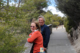 Ian and Karen at entrance to Wai-o-Tapu