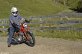 Honda CB77 with friend Ian Mander in New Zealand