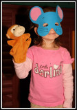 Kylie wears the mouse mask