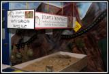 Fossil digging exhibit